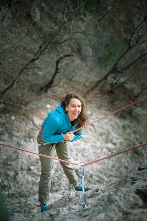 Annie klettert