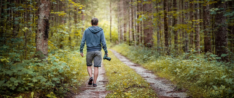 Dominik walking forest